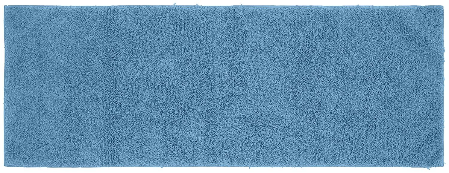 Garland Rug Queen Cotton Runner Washable Rug, 22-Inch by 60-Inch, Sky Blue