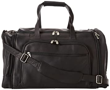Image Unavailable. Image not available for. Color  Piel Leather Multi-Compartment  Duffel Bag ... d26819bba927e