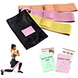 Bitty Fit Glute Bands for Women | Fabric Resistance Bands Set of 3 with A Travel Bag, Exercise & Diet Guide | Booty Resistance Bands for Legs and Butt Workouts, Therapy, Stretching & Squats