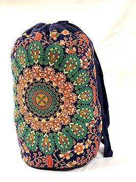 Bolsa de algod/ón Bolsa de Playa Boho Bolsas de Gimnasio Mochila Unisex Mochila Causal Trade Star Bolsa Indian Star Mandala Mochilas Multiusos