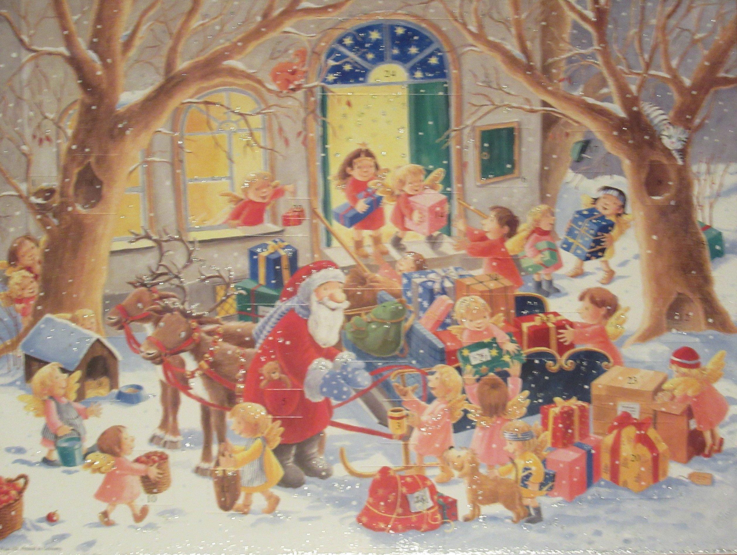 Adventskalender, Engel helfen Nikolaus
