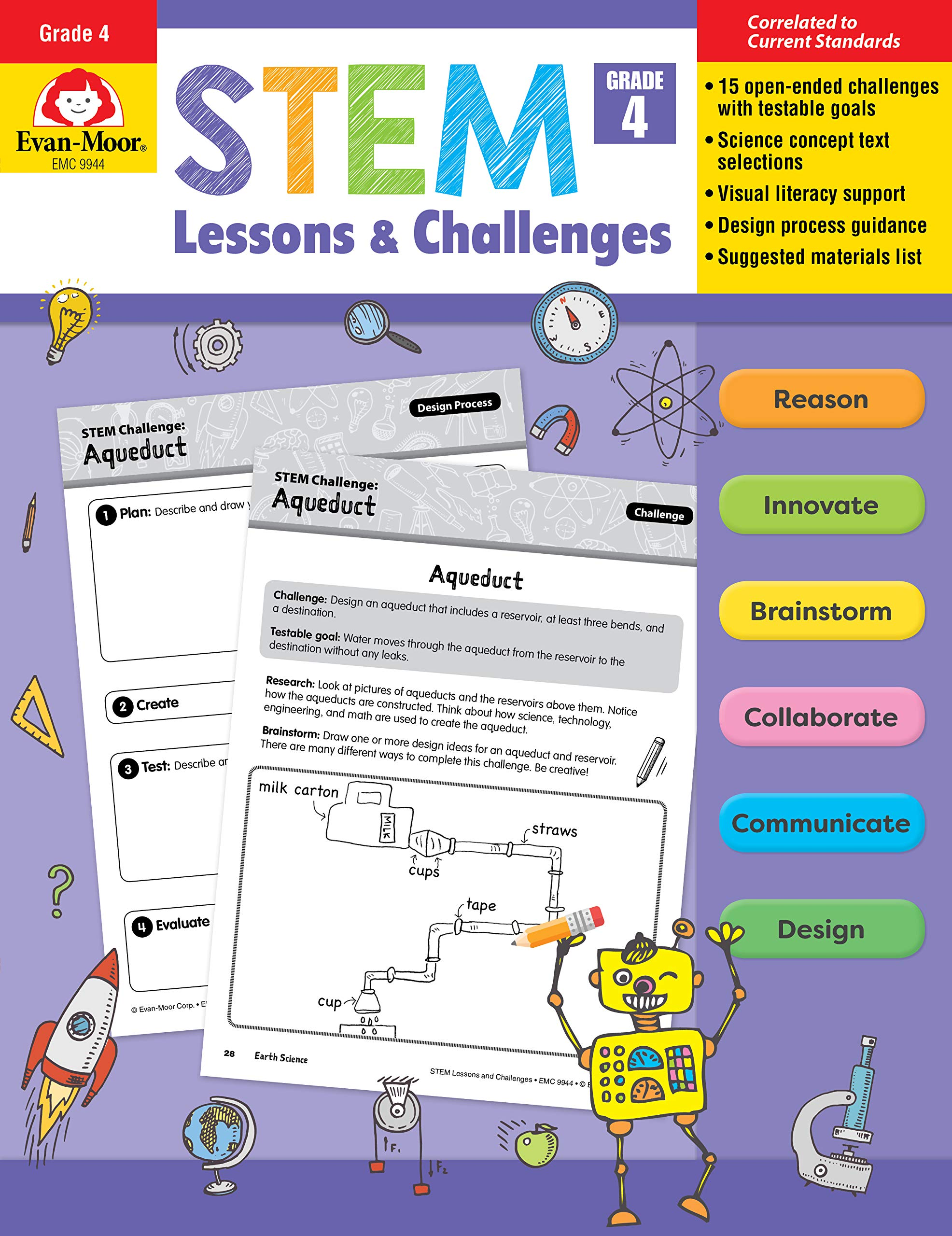 Evan-Moor STEM Lessons and Challenges, Grade 4 Teacher