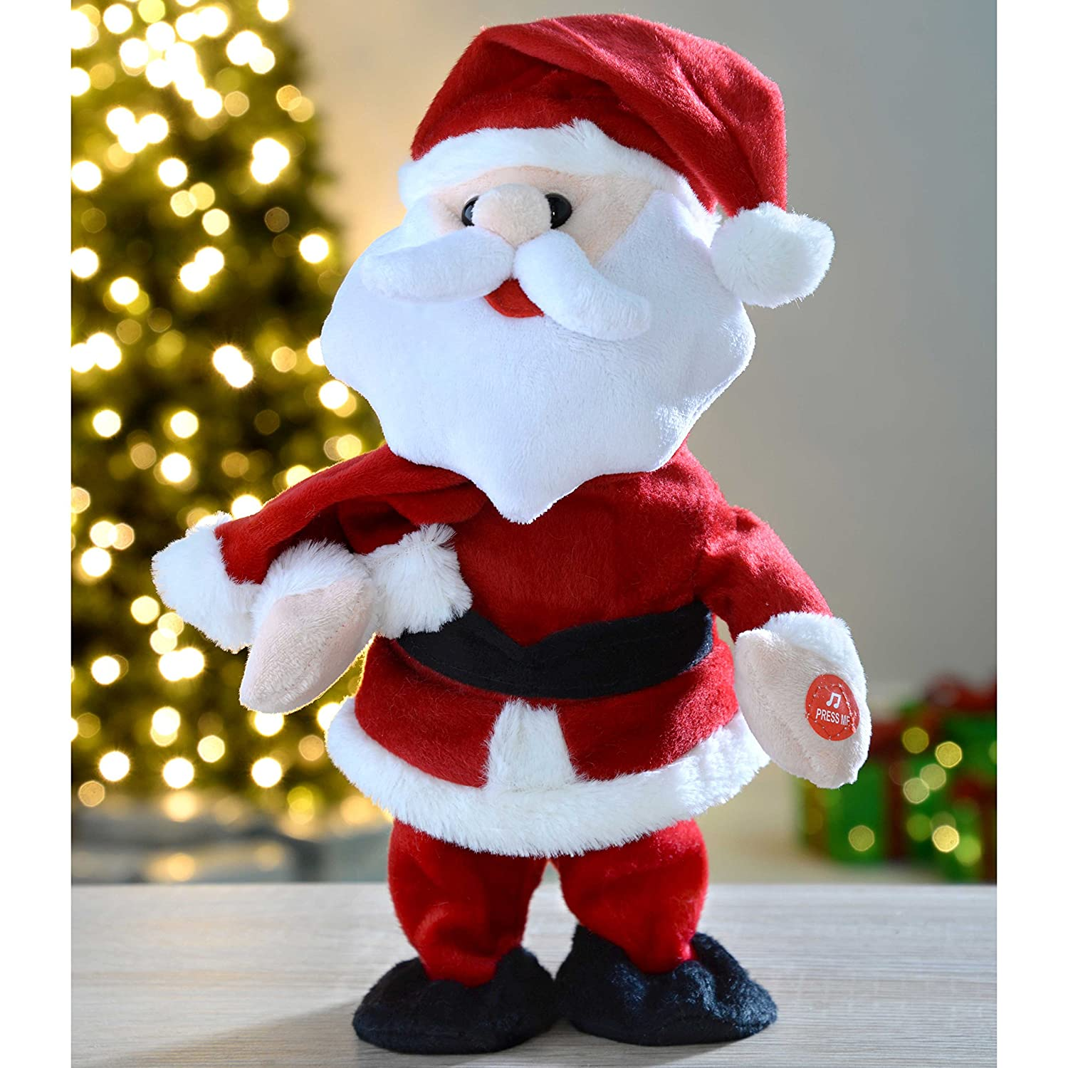 b08feab400 WeRChristmas Walking/Dancing and Singing Santa Christmas Decoration, 30 cm:  Amazon.co.uk: Kitchen & Home