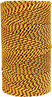 product image for W. Rose RO689 Super Tough Professional Bonded Braided Nylon Mason's Line, 685-Feet, Black/Gold/Orange