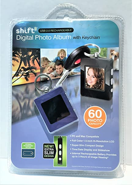 amazon com shift3 digital photo album with keychain professional rh amazon com