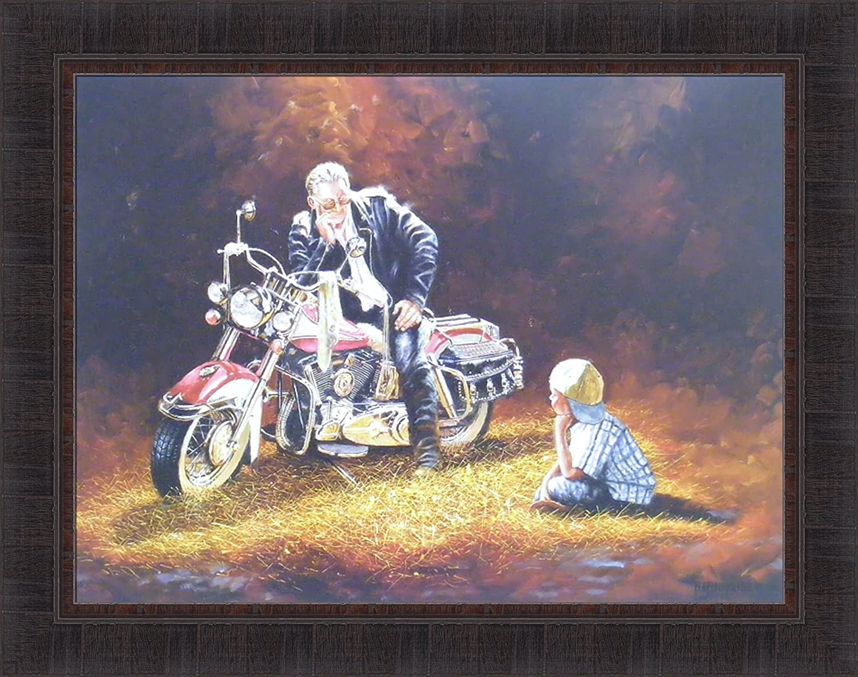 Dave Barnhouse American Made Motorcycle Print 18 x 12