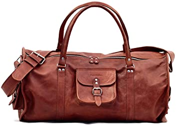 LE VOYAGEUR (L) bolso de viaje de cuero estilo vintage PAUL MARIUS: Amazon.es: Equipaje