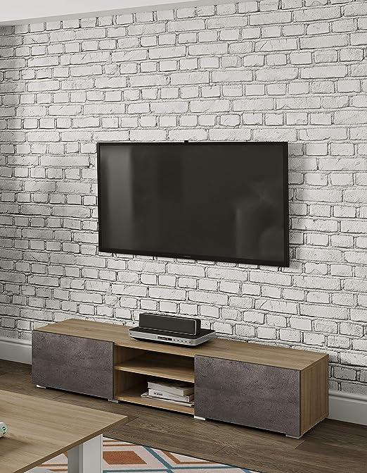symbiosis Podium 140 Mueble para TV, Madera Rojas, Roble y Cemento, 140 x 42 x 31 cm: Amazon.es: Juguetes y juegos