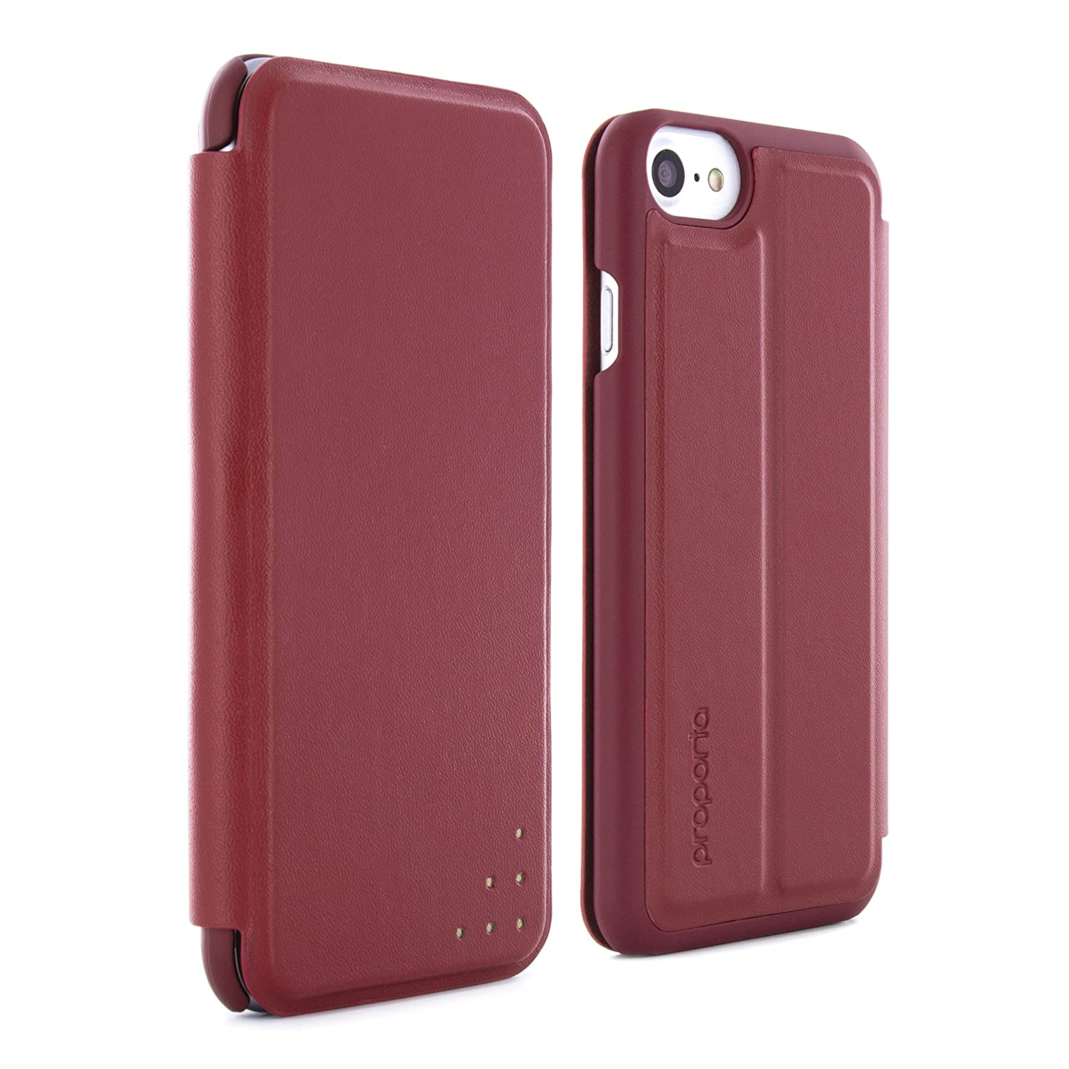 promo code 2259f d08d8 PROPORTA Branded Ultra Slim HEAVY-DUTY Case for Apple iPhone 8, 7, 6S -  Berry / Rose Gold