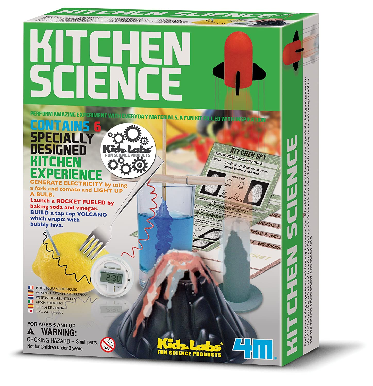 Create your own kitchen science experiments simple to make set educational educational science present gift ideal for christmas xmas stocking fillers