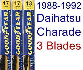 1988 - 1992 Daihatsu Charade hoja de limpiaparabrisas de repuesto Set/Kit (Goodyear limpiaparabrisas blades-premium) (1989,1990,1991): Amazon.es: Coche y ...