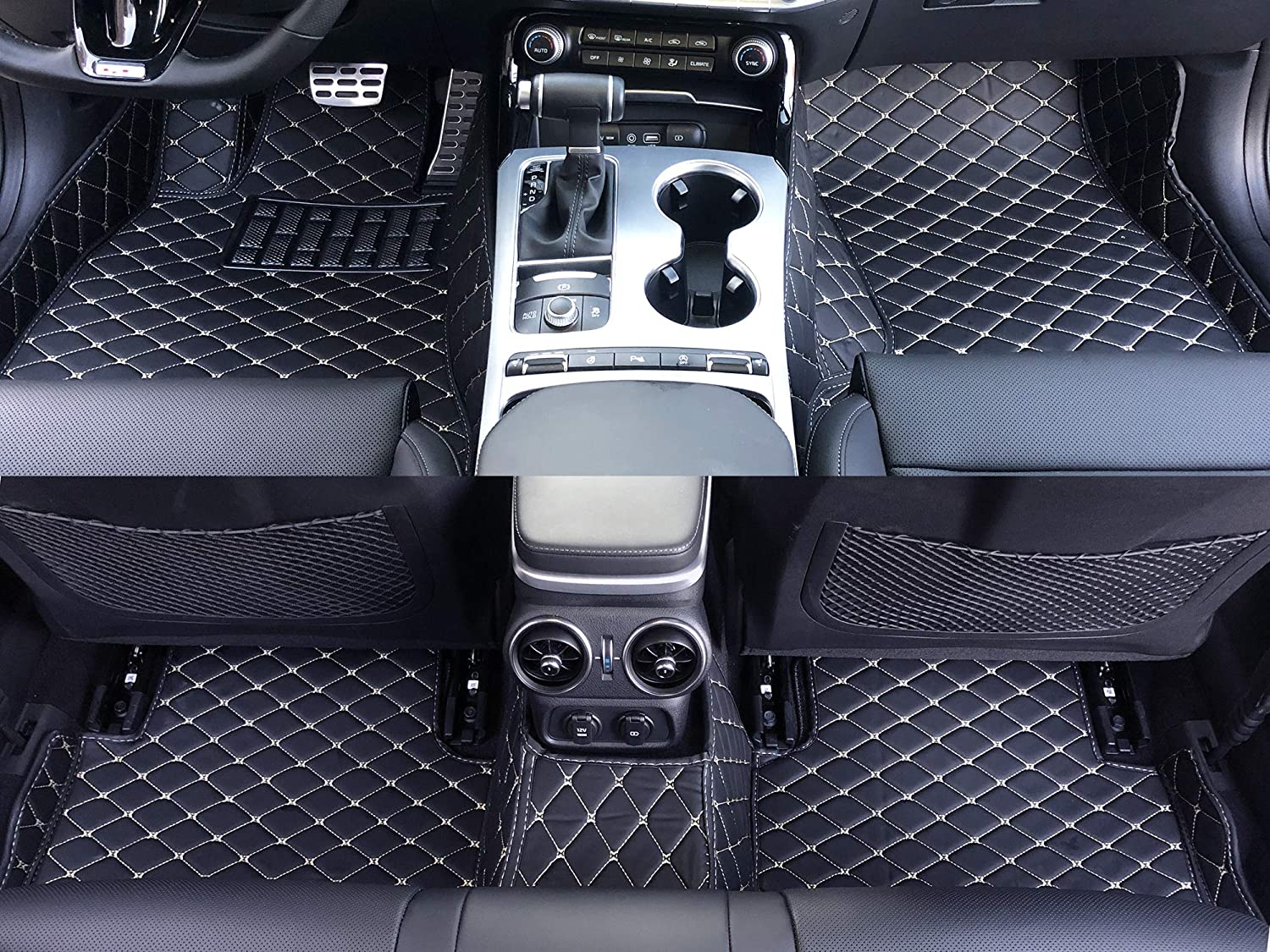 Black Single Layer Front and Rear All Weather Heavy Duty Full Coverage Floor Mat Floor Protection Made in USA for 2017 2018 2019 2020 Cadillac XT5 SUV Custom Fit