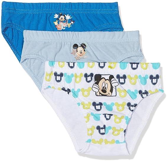 Disney Mickey Mouse, Calzoncillos (Pack de 3) para Niños,, 4-