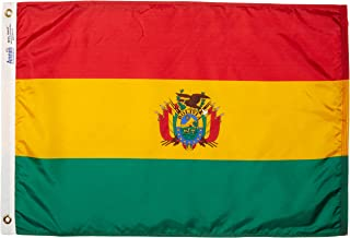 product image for Annin Flagmakers Model 190677 Bolivia Flag Nylon SolarGuard NYL-Glo, 2x3 ft, 100% Made in USA to Official United Nations Design Specifications