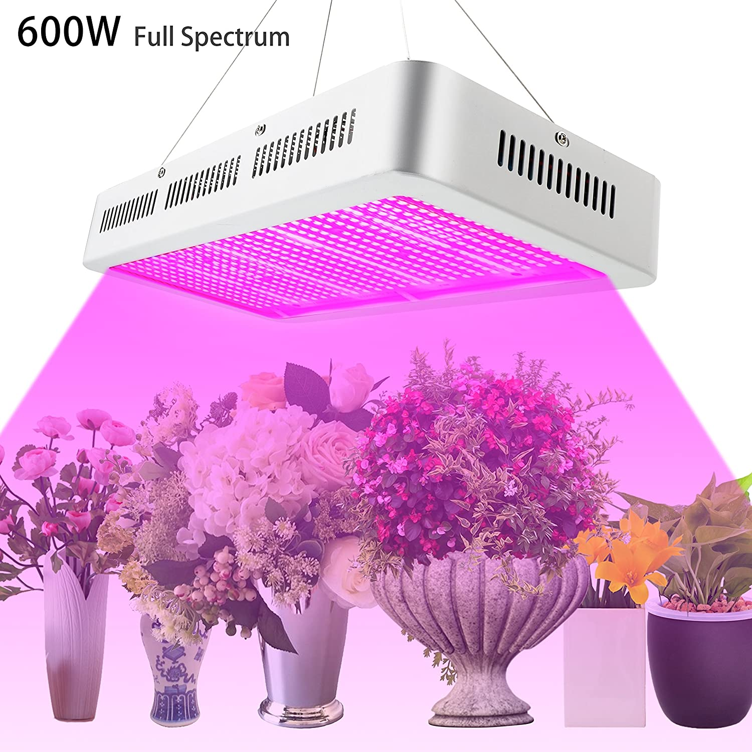 UFO LED Grow Light,Roleadro 300W 9 Band Full Spectrum Hydroponic Growing Lamp Light with UV IR Light for Indoor Plants Flowers and Vegetables