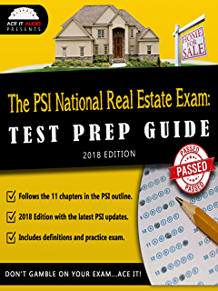 2018 pennsylvania psi real estate exam prep questions and answers the psi national real estate exam test prep guide 2018 edition fandeluxe Choice Image