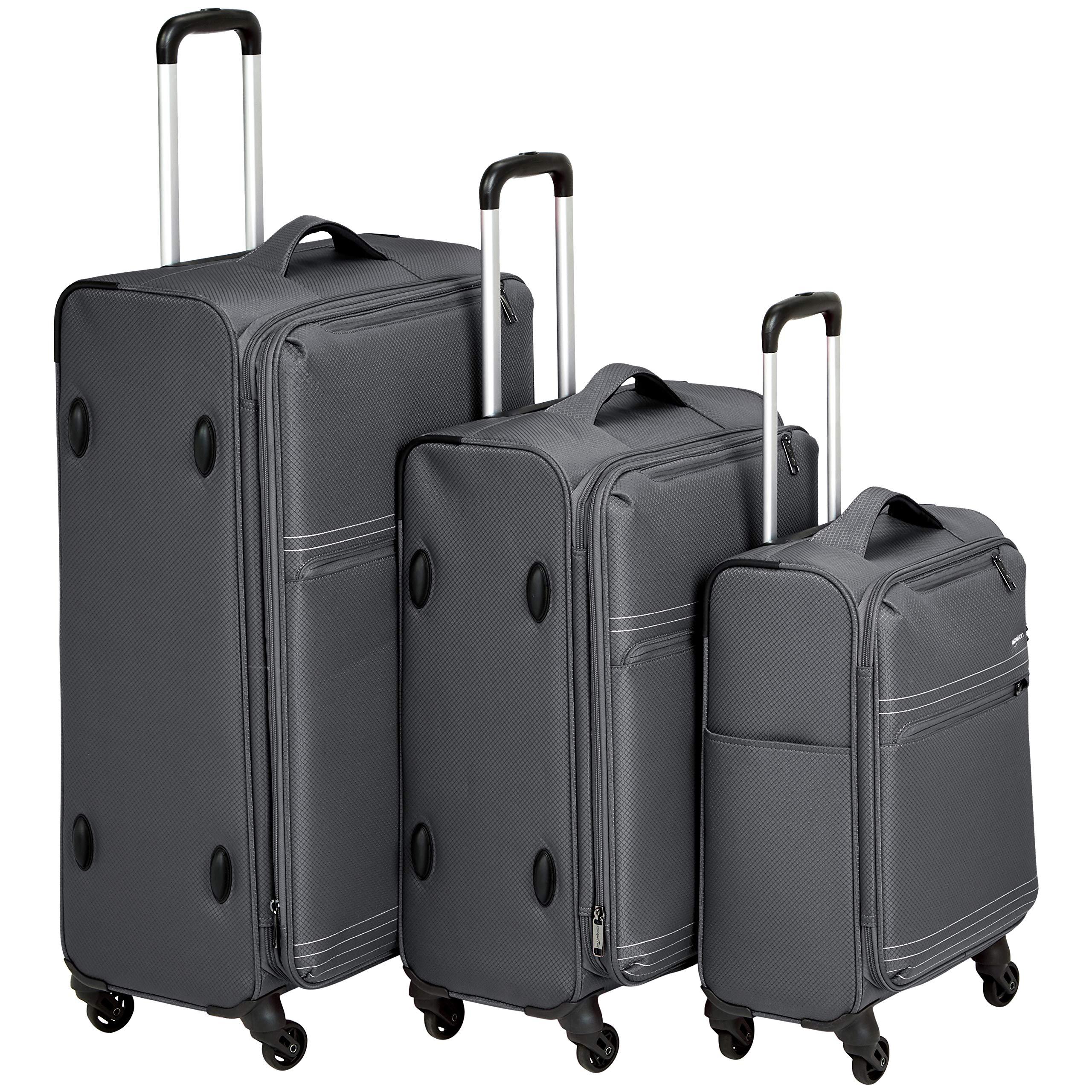 AmazonBasics 3-Piece Set (22'', 27'', 32''), Grey