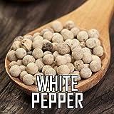 The Spice Lab White Indian Malabar Highland Peppercorn 1 Pound Bag - Premium (Whole)