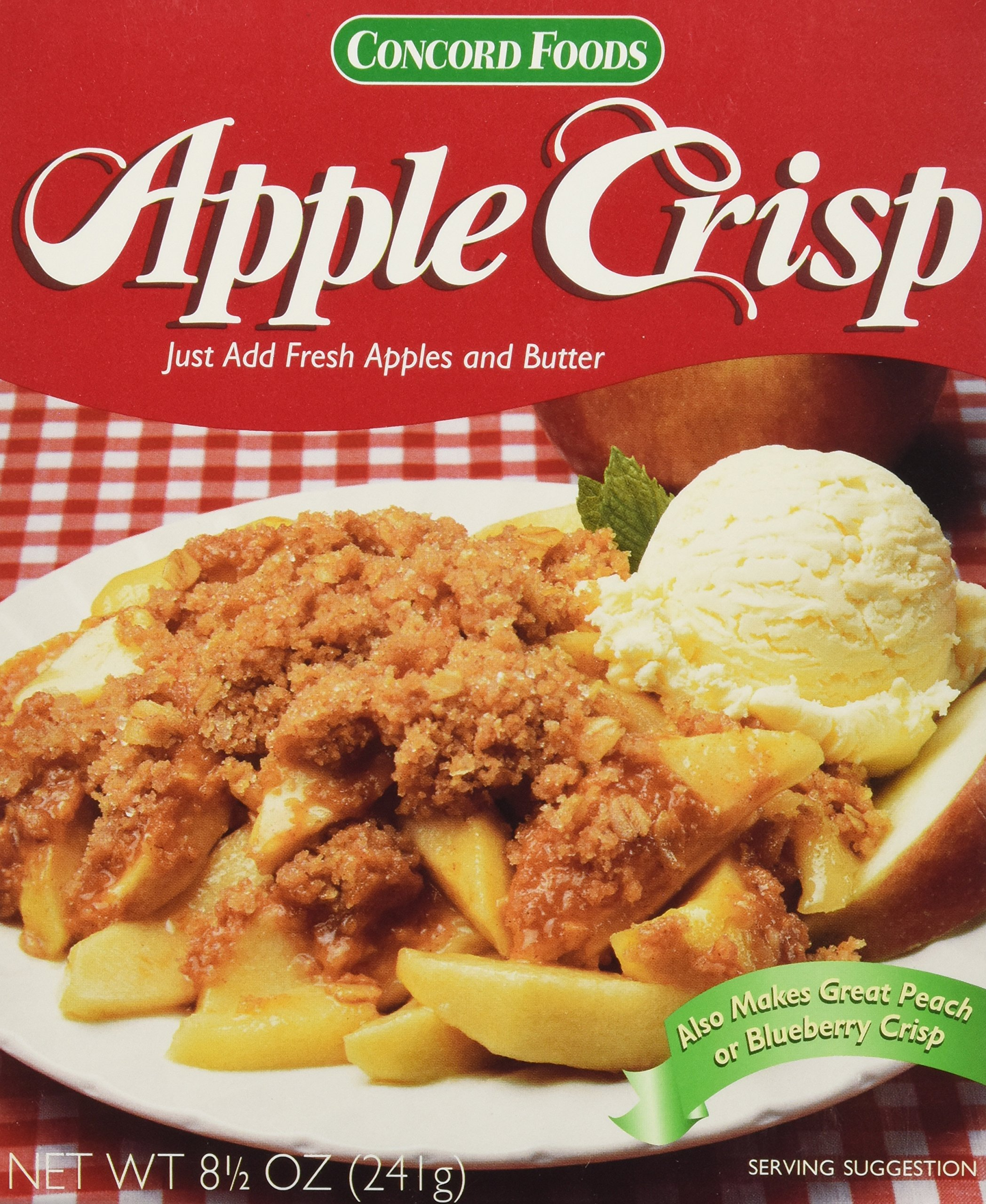 Concord Foods Apple Crisp Mix (Value Pack of 6 Boxes) by Concord Foods