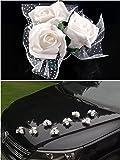 P&D Décorations de mariage pour voiture 4roses Crème