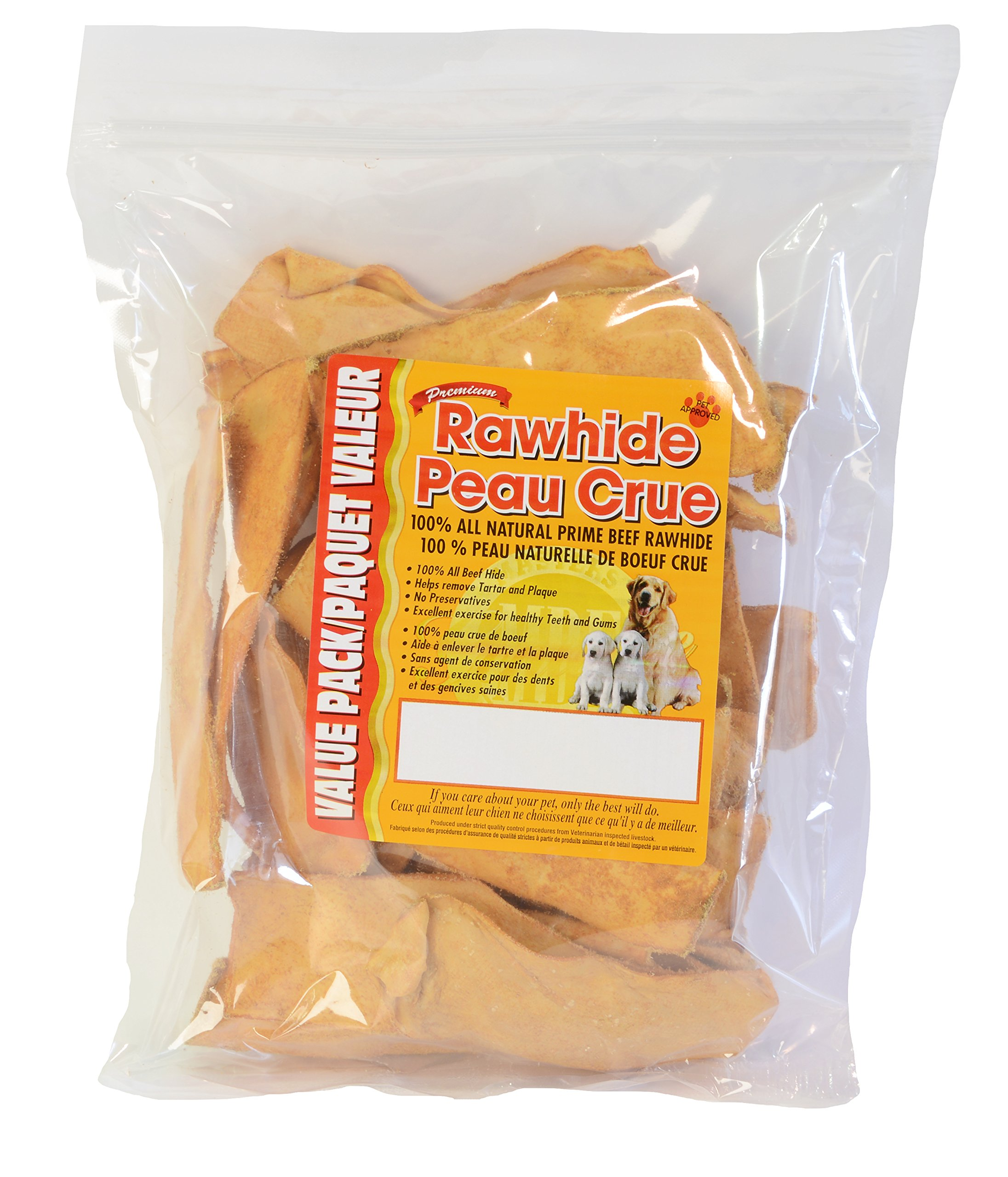 Masters Best Friend Chicken Basted Rawhide Chips Pet Treat (1 Pack), 16 Oz by Masters Best Friend
