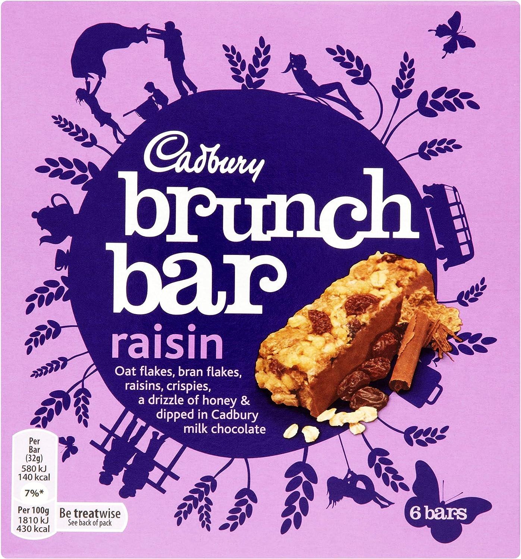 Original Cadbury Brunch Bar Raisin Pack Imported From The UK England