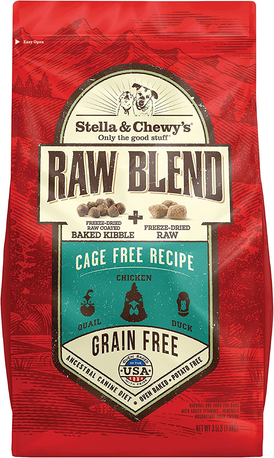 Sunseed Stella & Chewy's Raw Blend Cage Free Recipe Dog Food 22lb