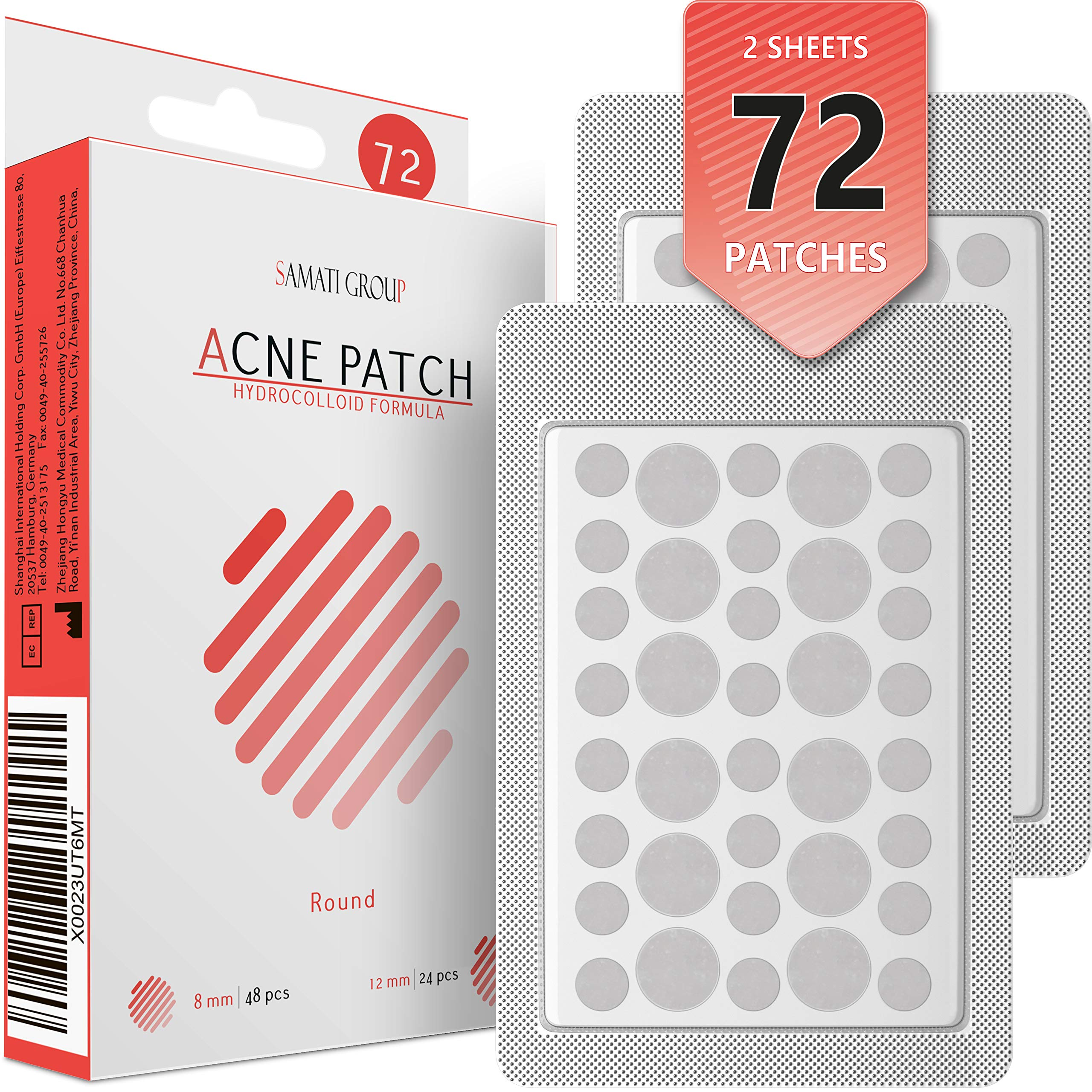 Acne Pimple Master Patch 72 dots - Absorbing Hydrocolloid Blemish Spot Skin Treatment and Care Dressing by SAMATI GROUP