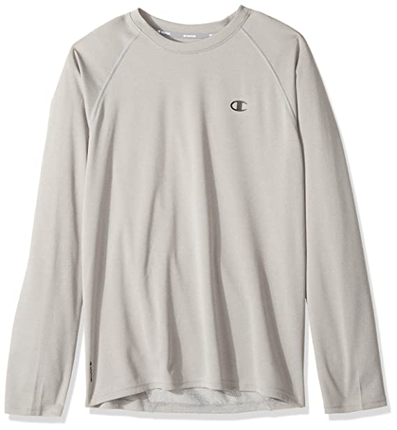 c48813903921 Champion Men's Double Dry Select Long Sleeve T-Shirt, Oxford Gray, Small at  Amazon Men's Clothing store:
