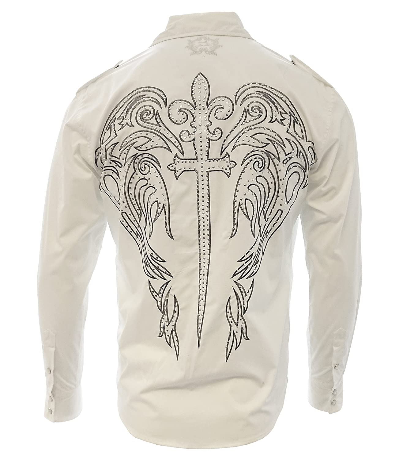 Zava Fashion Cowboy Shirt Long Sleeve Camisa Vaquera Western Wear with Embroidered Design