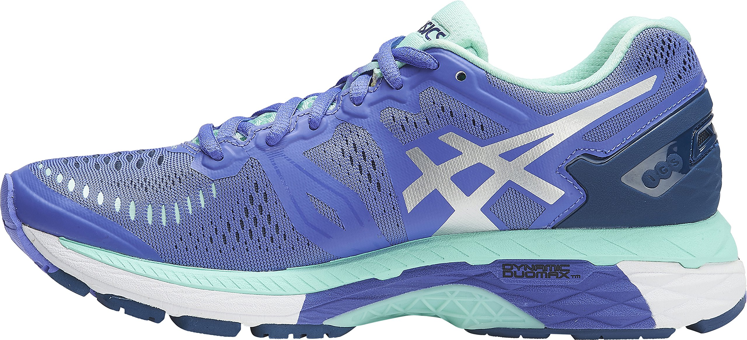 ASICS Womens Gel-Kayano 23 Running Shoe, Purple/Silver/Mint, 10 B(M) US