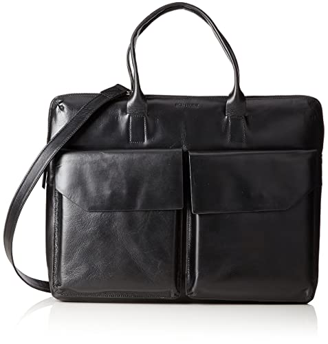 New Courier Day, Unisex Adults Messenger Bag, Schwarz (Black), 7x31x43 cm (B x H T) Royal Republiq