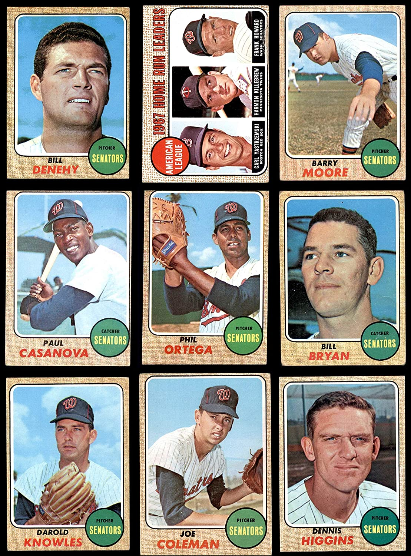 1968 Topps Washington Senators Team Set Washington Senators (Baseball Set) Dean's Cards 3 - VG Senators 91j1z2OXBTLSL1500_