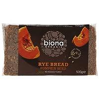 Biona Organic Rye Pumpkin Seed Bread 500g (Pack of 6)