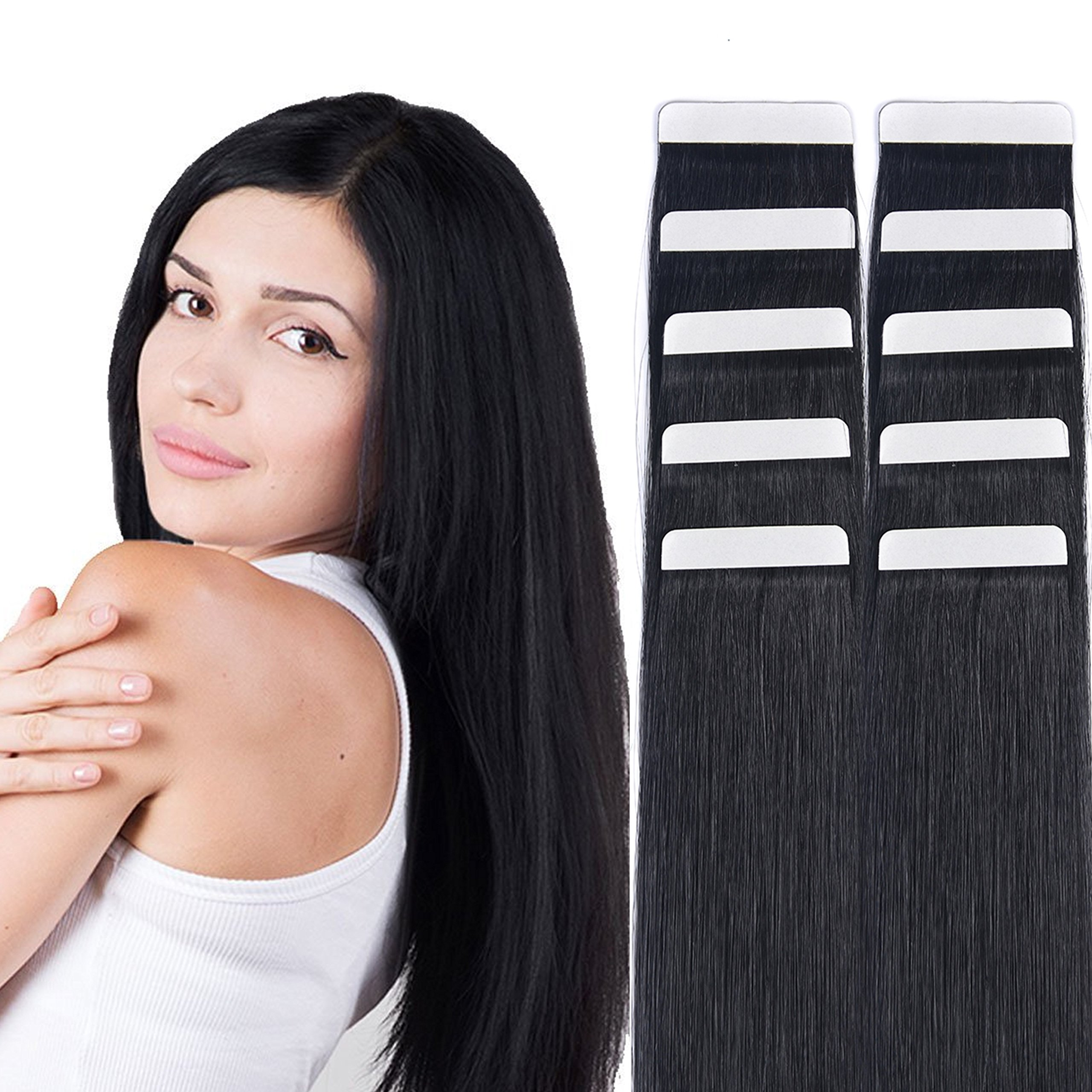 Amazon 14 Tape In Hair Extensions Remy Human Hair Seamless