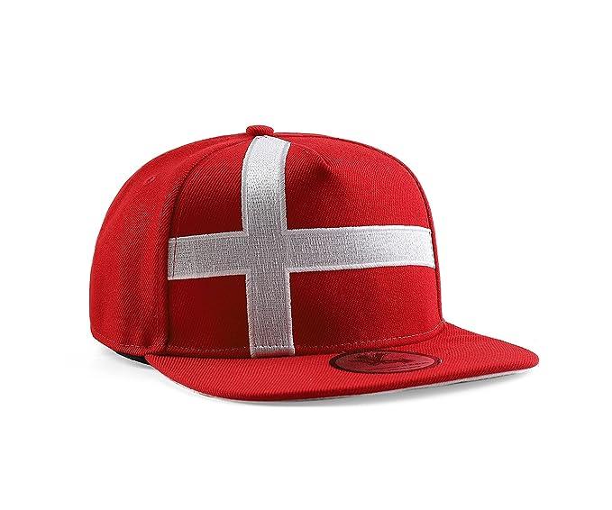 Underground Kulture Dinamarca Gorra de béisbol roja del Snapback   Amazon.es  Ropa y accesorios 065686cabed