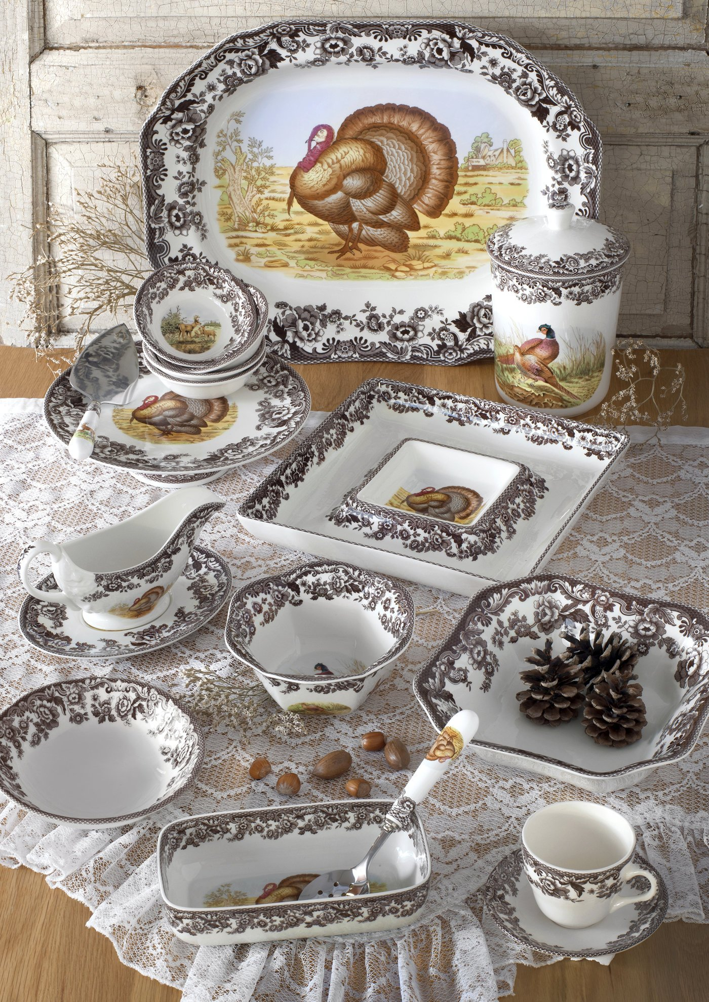 Spode Woodland Turkey Rectangular Platter by Spode (Image #4)