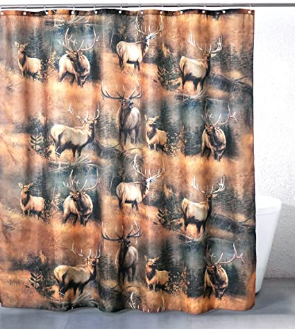 Elk Meadow Polyester Shower Curtain