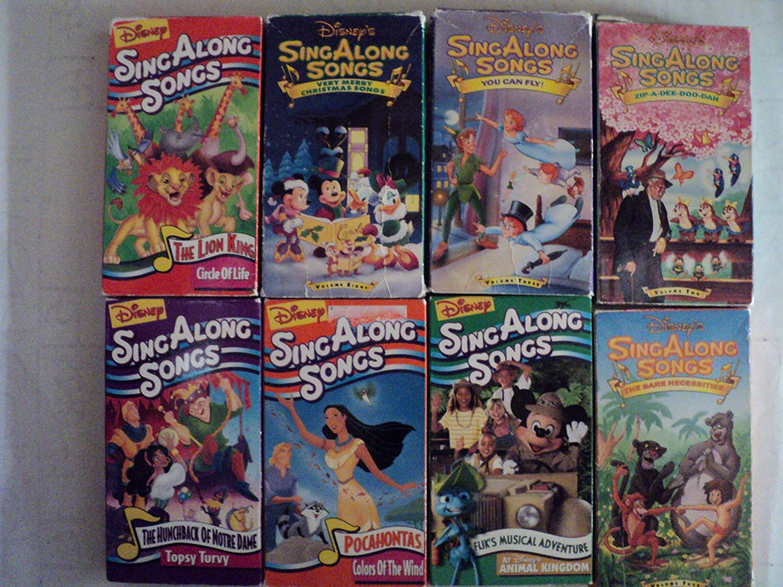 Disney Sing Along Songs Christmas Vhs.Amazon Com Disney Sing Along Songs 8 Pack Vhs Movies The