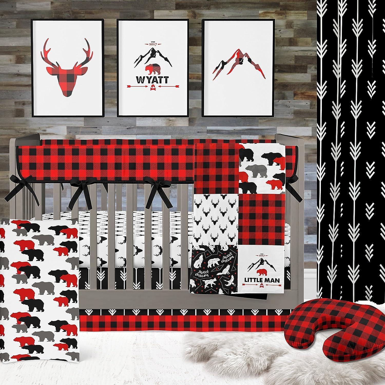 Lumberjack Buffalo Plaid Crib Bedding Set