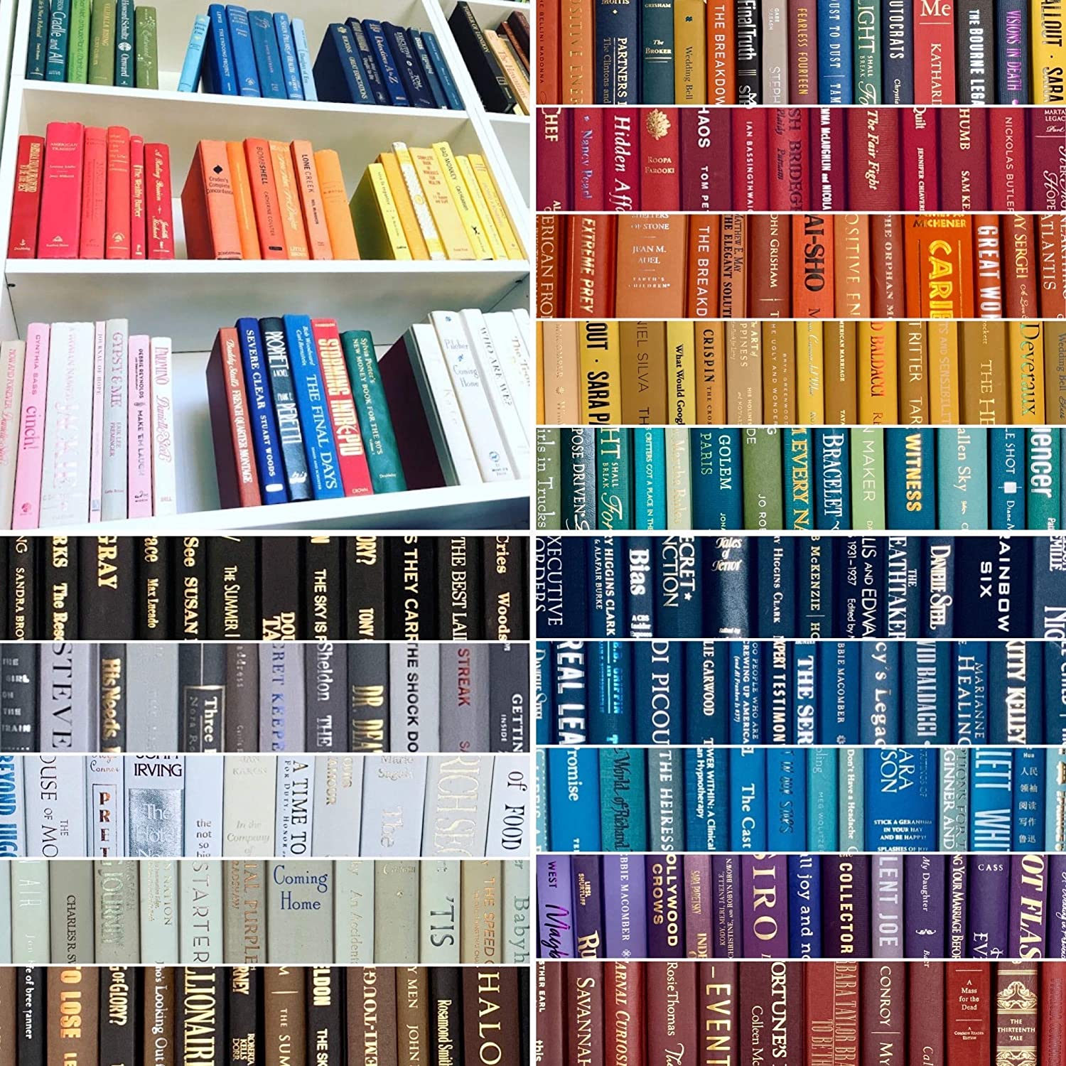 Real Books By Color For Decor Choose Your Colors Used Hardcover Books Perfect For Office Or Home Décor Interior Design Wedding Display Stage And Set Props Or Instant Library Handmade Amazon Com