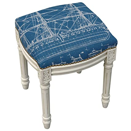 Peachy Amazon Com 123 Creations Ship Navy Blue And Antique White Caraccident5 Cool Chair Designs And Ideas Caraccident5Info