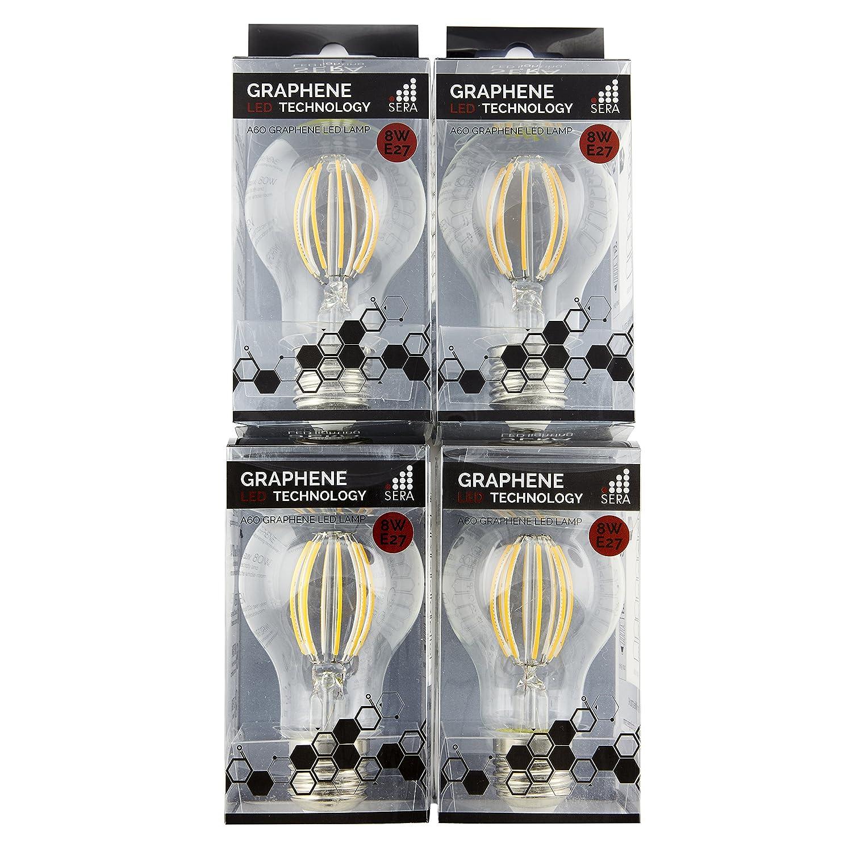 4 Pack – 8 W dimmbar Graphene LED Filament Glühbirne E27 (A60)
