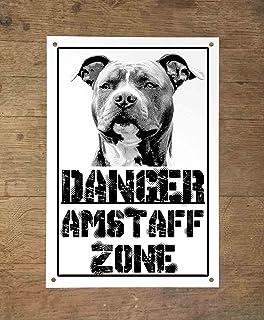 PITBULL attenti al cane mod 4 TARGA cartello CANE IN METALLO