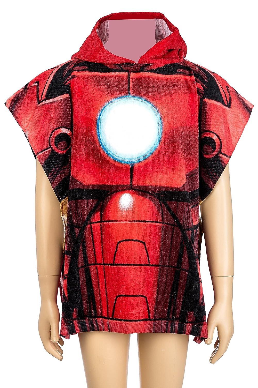 Marvel Avengers Poncho//Drap de bain avec capuche 55/x 110/cm original sous licence rouge