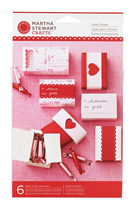 Amazon Com Martha Stewart Crafts Valentine S Day Mini Treat Boxes