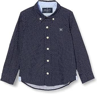 Hackett London Navy Square Print B Camisa para Niños