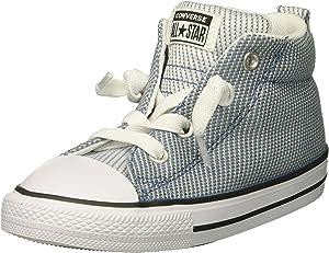142cb3341a56a7 Converse Boys  Street Woven Canvas Mid Top Sneaker