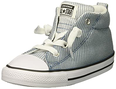 75f708a3396 Converse Boys  Street Woven Canvas Mid Top Sneaker Aegean  Storm Dolphin White 2