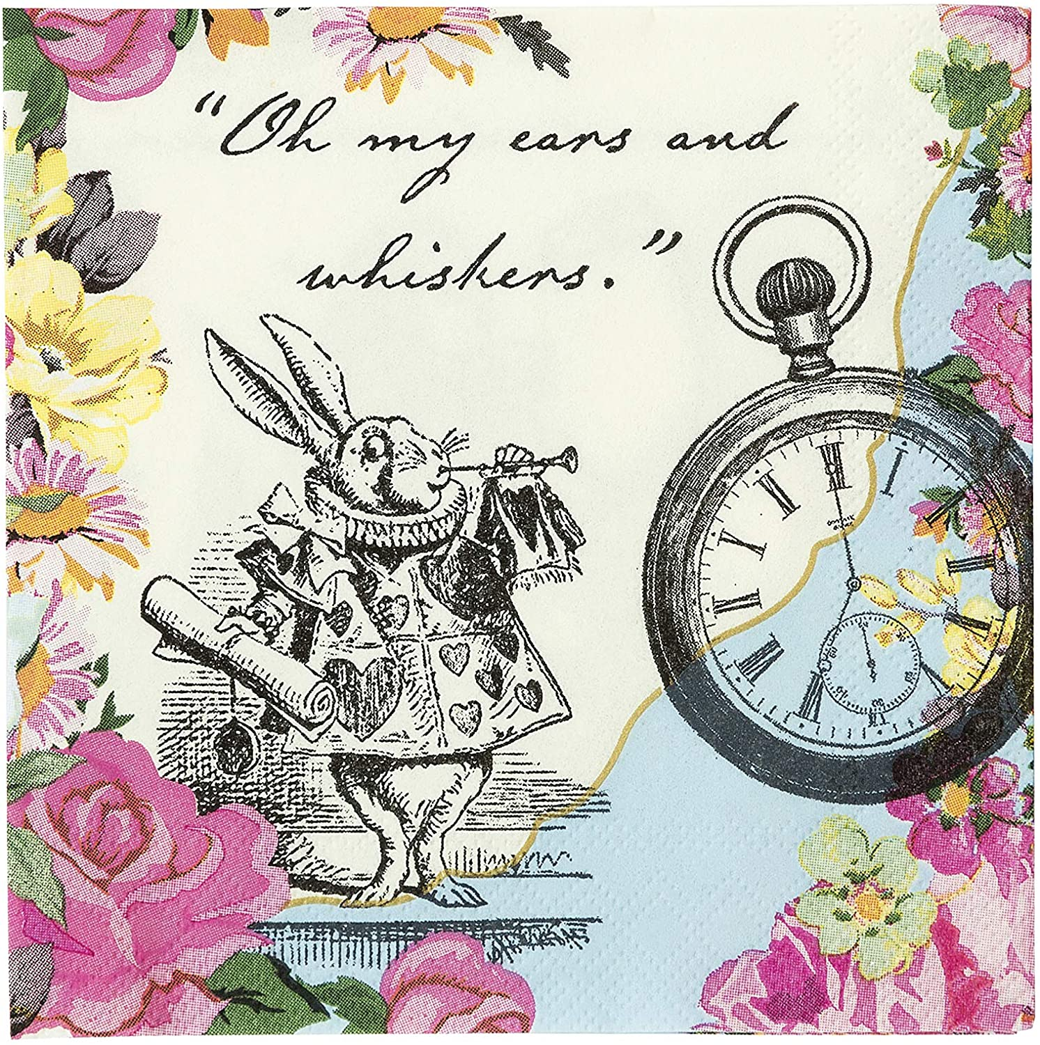 Disposable Tableware, Party Supplies For Mad Hatter Tea Party, Birthday, Afternoon Teas, Baby Shower